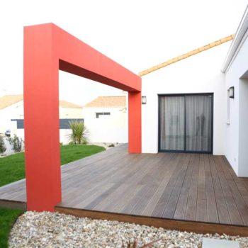 enduit façade Olonne sur mer en Vendée 85