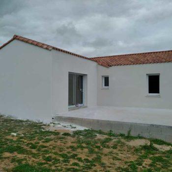 Enduit de façade maison neuve en Vendée 85