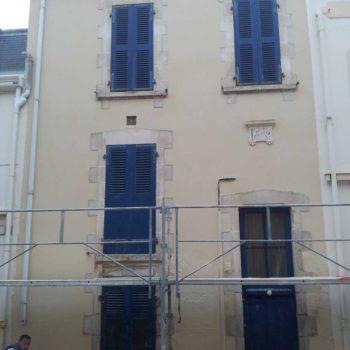 enduit de façade après rénovation à l'île d'olonne 85